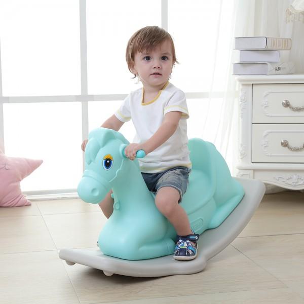 Dečija klackalica u obliku konjića - plava