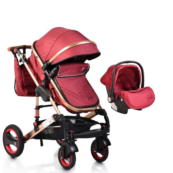 Kolica za bebe ''Gala'' 2 u 1 Crvena, set sa autosedištem