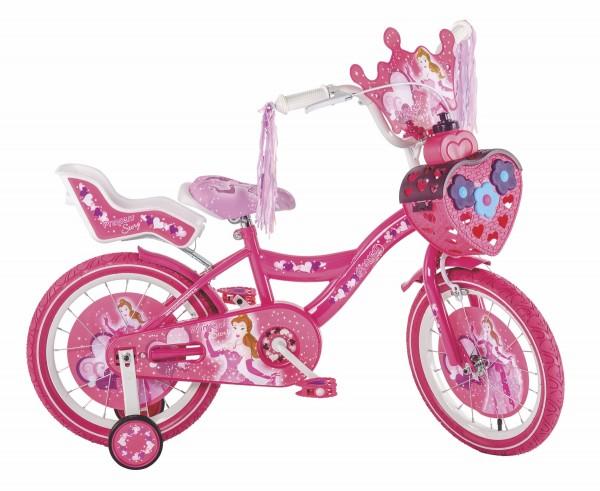 Bicikla za decu sa pomoćnim točkovima Princess Story 16''
