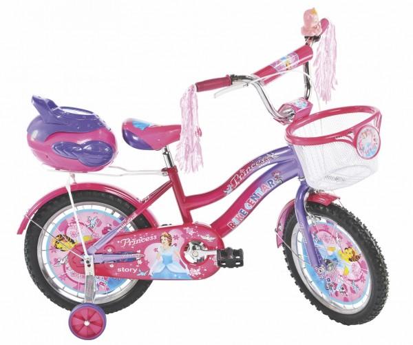 Bicikla za decu sa pomoćnim točkovima Princess Dark 16''