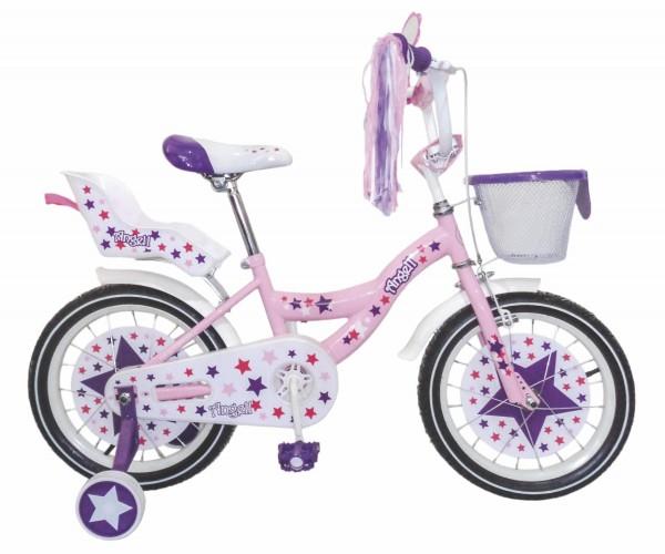 Bicikla za decu sa pomoćnim točkovima Princess Angell 16''