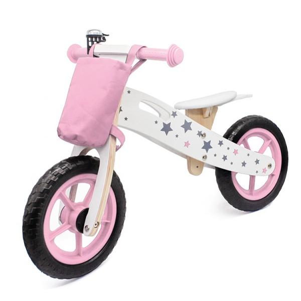 Bicikla za decu Balance bike 755 roze drveni