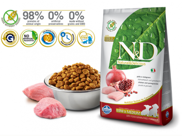 N&D Suva hrana Prime Puppy Mini and Medium Chicken&Pomegranate 7 kg