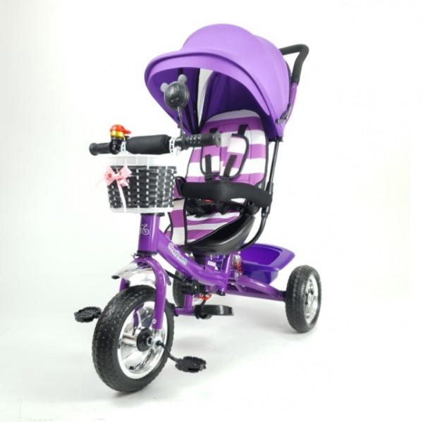 Tricikl-guralica Playtime Meridian za decu 406 ljubičasta