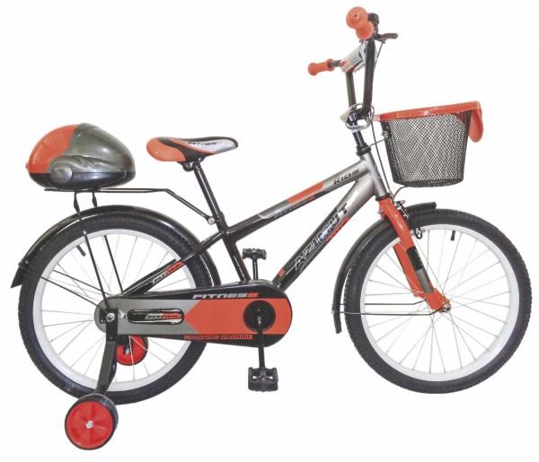 Bicikla za decu sa pomoćnim točkovima Fitnes 20'' sivo-orange