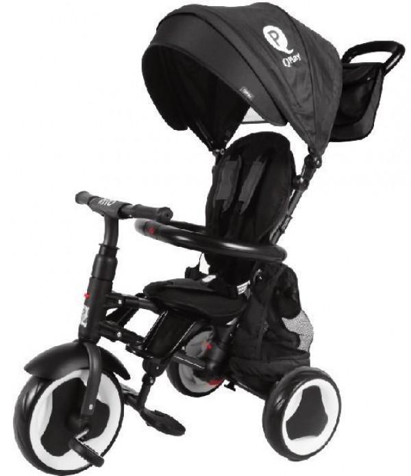 Tricikl-guralica za decu 3u1 QPlay ''Rito Plus'' Crna