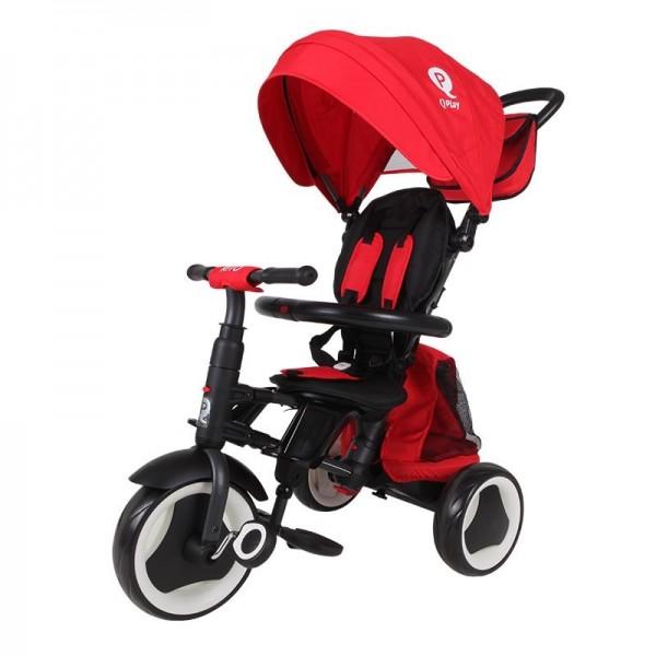 Tricikl-guralica za decu 3u1 QPlay ''Rito Plus'' Crvena