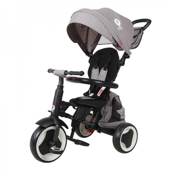 Tricikl-guralica za decu 3u1 QPlay ''Rito Plus'' Siva