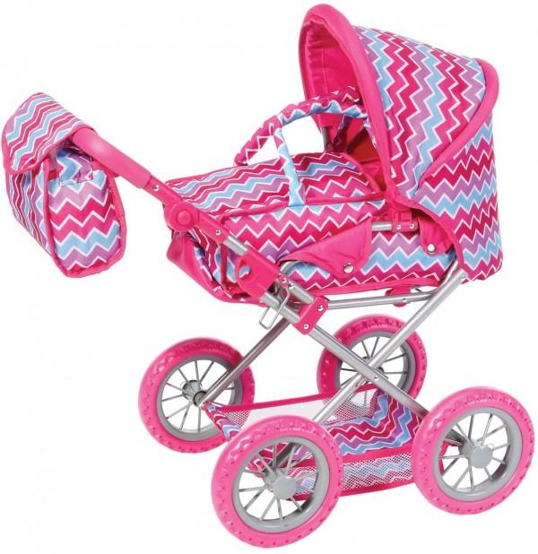 Knorr kolica za lutke Ruby Pink Zigzag