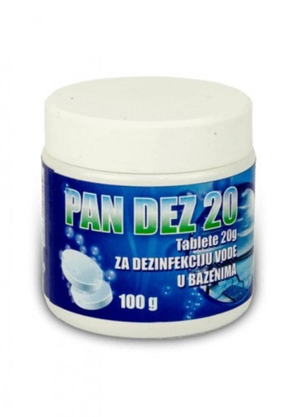 Pan dez 20  - Tablete hlora od 20g za dezinfekciju vode 100g