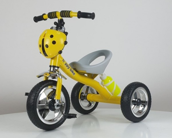 Tricikl bez tende Happybike, model 434 žuti