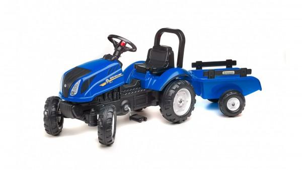 Falk Dečiji Traktor na pedale sa prikolicom New Holland