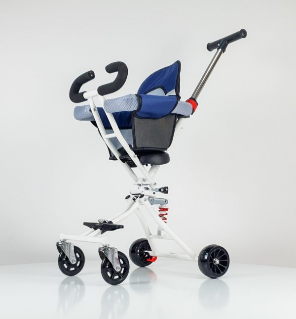 Kolica-guralica za bebe Mini siva