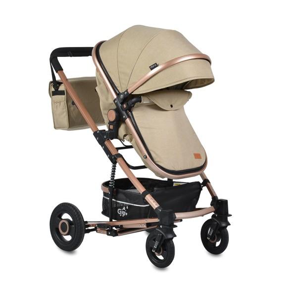 Kolica za bebe Gigi Bež sa mehanizmom za ljuljanje