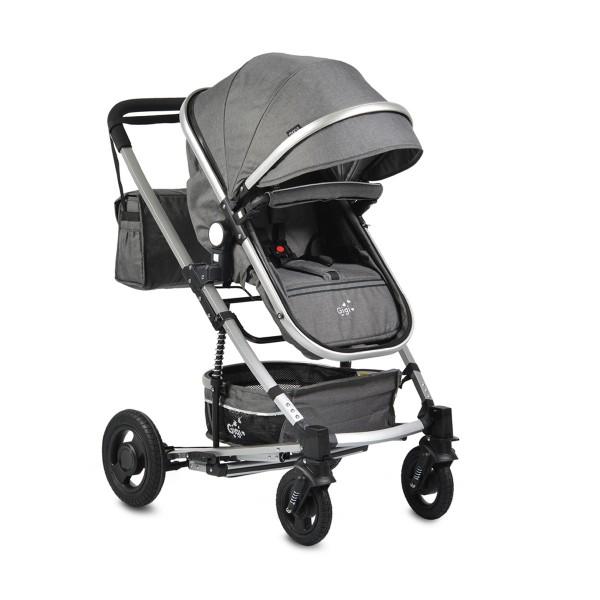Kolica za bebe Gigi tamno siva sa mehanizmom za ljuljanje