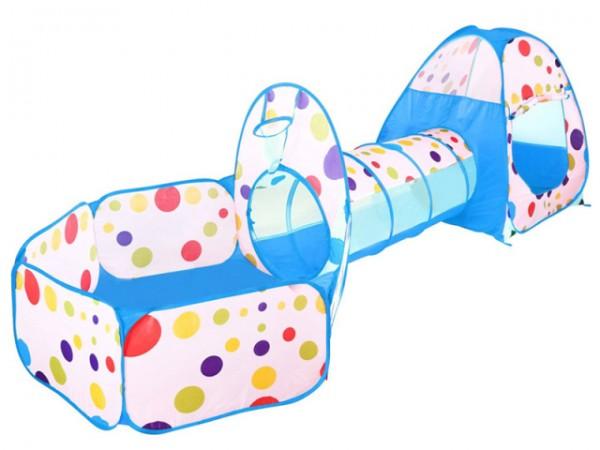 Šator - Tunel set za decu 3u1 plavi