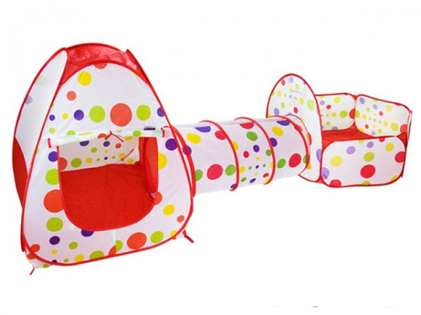 Šator - Tunel set za decu 3u1 crveni