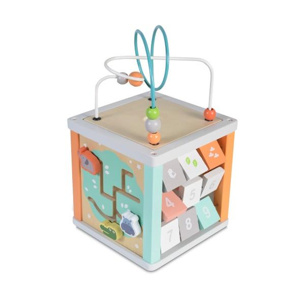 Drvena igračka Edukativna kocka 20cm