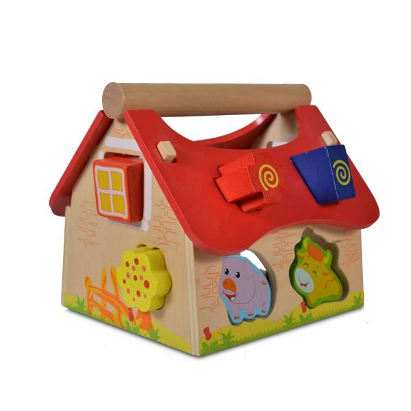 Drvena igračka Edukativna kuća sa životinjama