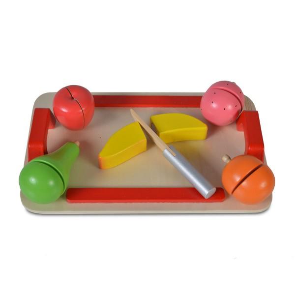 Drvena igračka Daska za sečenje (5 voćki+drveni nož)