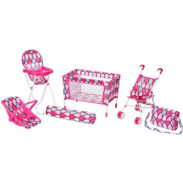 Set hranilica i kolica sa nosiljkom za lutke