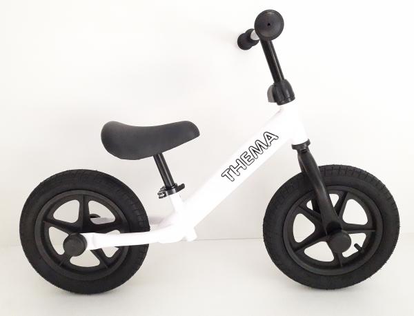Balance bike - Bicikla za decu sa gumama na naduvavanje, bela
