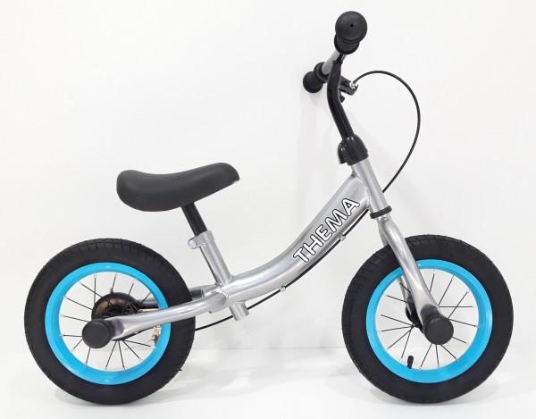 Balance bike - Bicikla za decu sa ručnom kočnicom, siva