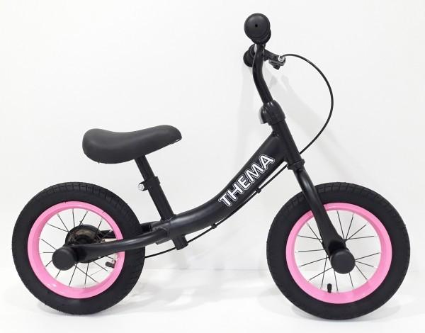 Balance bike - Bicikla za decu sa ručnom kočnicom, crna