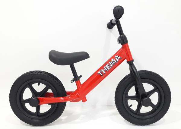 Balance bike - Bicikla za decu sa gumama na naduvavanje, crvena