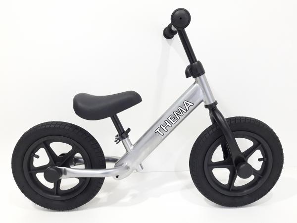 Balance bike - Bicikla za decu sa gumama na naduvavanje, siva