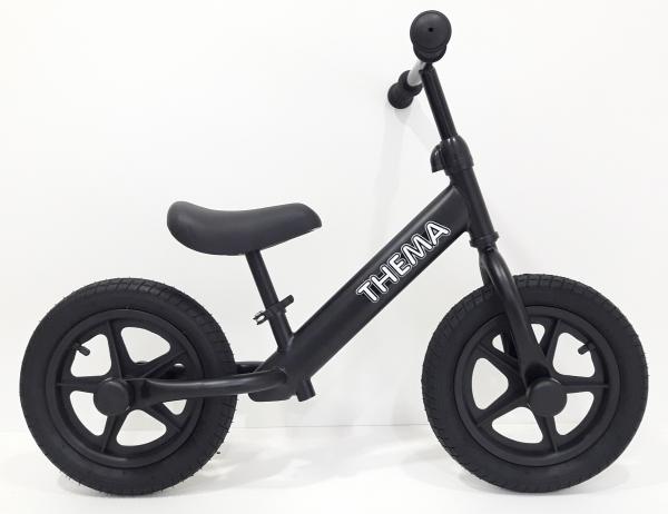 Balance bike - Bicikla za decu sa gumama na naduvavanje, crna