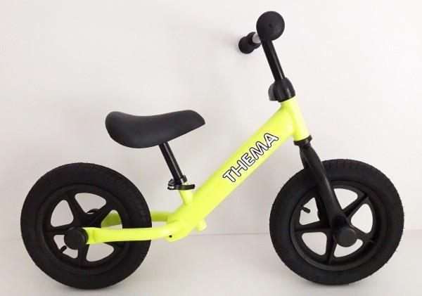Balance bike - Bicikla za decu sa gumama na naduvavanje, zelena