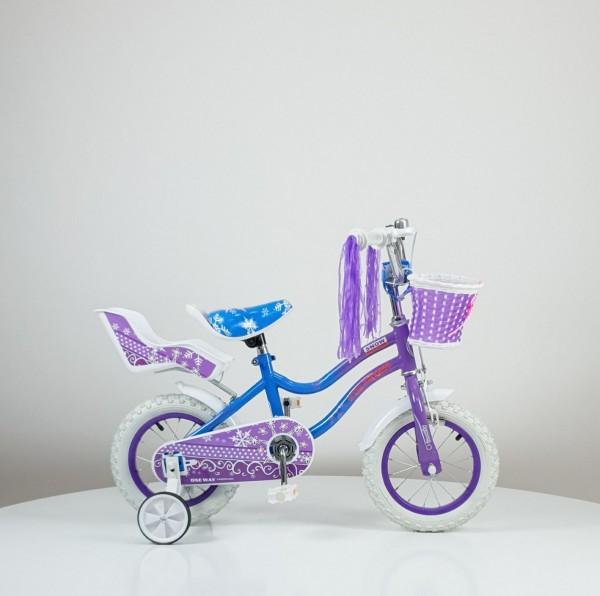 Bicikla za decu ''SNOW PRINCESS'' 12inc, model 716 ljubičasta