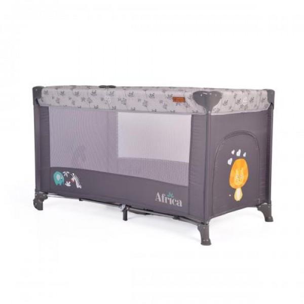 Prenosivi krevetac za bebe ''Africa'', sivi NOVO