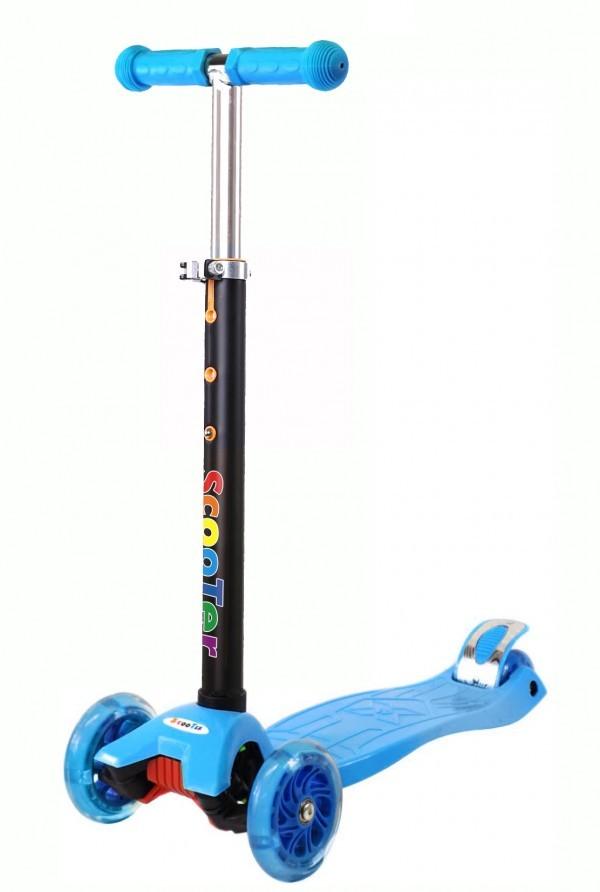 Trotinet za decu sa 4 svetleća točka, plavi
