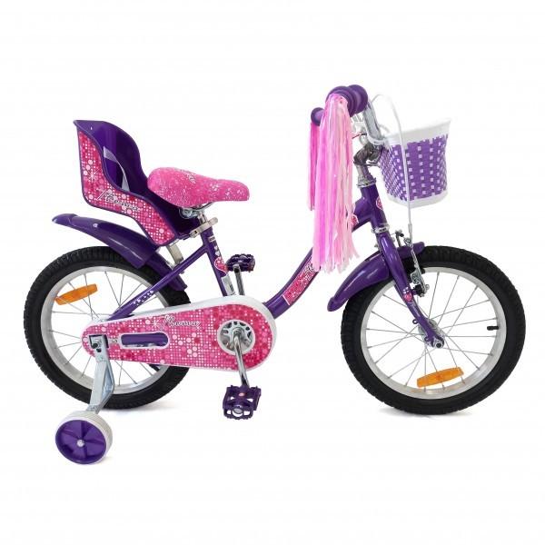Bicikla za decu 16inc, ljubičasta
