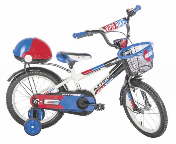 Bicikla za decu sa pomoćnim točkovima Fitness 16'' plavi