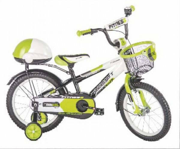 Bicikla za decu sa pomoćnim točkovima Fitness 16'' zeleni
