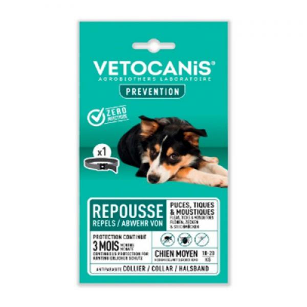 VETOCANiS Ogrlica za pse srednjih rasa od 10 do 20 kg (60 cm)