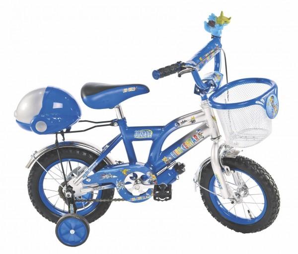 Bicikla za decu sa pomoćnim točkovima FOX SPACE plavi 12''