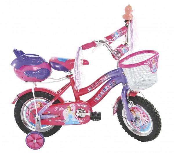 Bicikla za decu sa pomoćnim točkovima PRINCESS DARK 12''