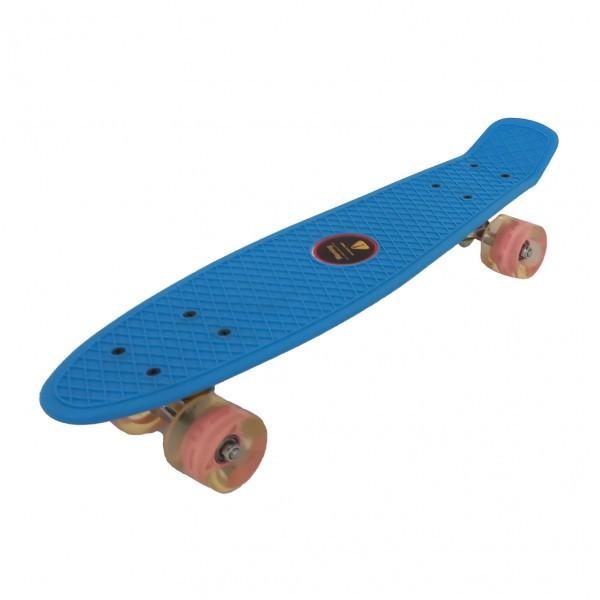 Skejtbord za decu sa svetlećim točkovima 001 Plavi
