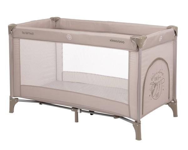 KikkaBoo Krevetac za bebe SO GIFTED Bež - jedan nivo