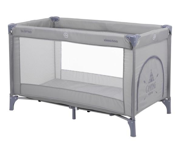KikkaBoo Krevetac za bebe SO GIFTED Sivi - jedan nivo