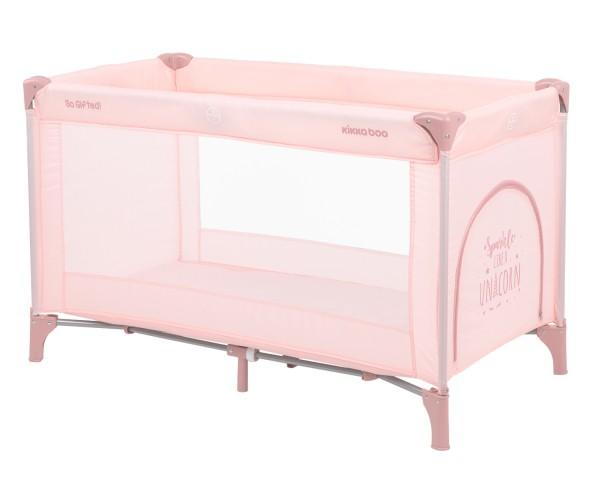 KikkaBoo Krevetac za bebe SO GIFTED Pink - jedan nivo