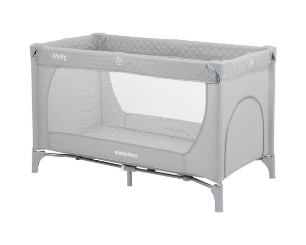 KikkaBoo Krevetac za bebe MEDLEY Sivi - jedan nivo