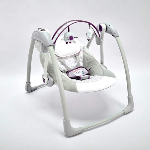 Kikkaboo Ljuljaška za bebe CHILLO sa adapterom do 11 kg Purple Owl