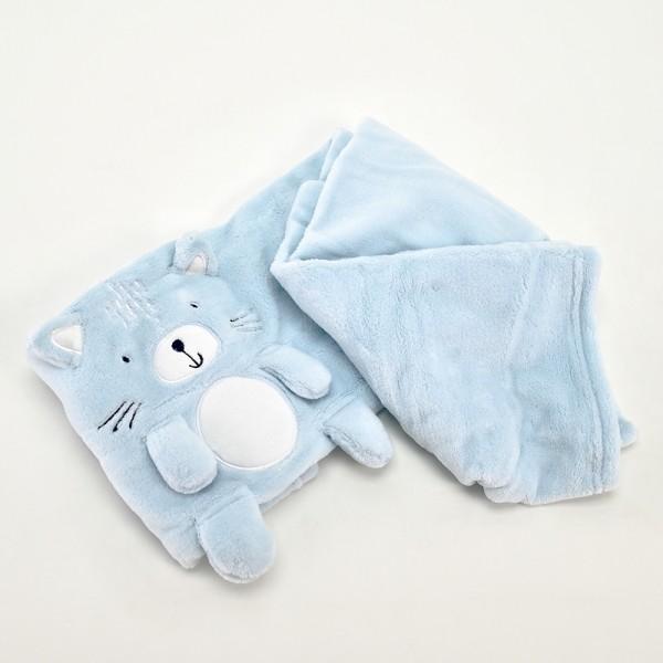 KikkaBoo Ćebence za bebe sa 3D vezom 75x100 CAT