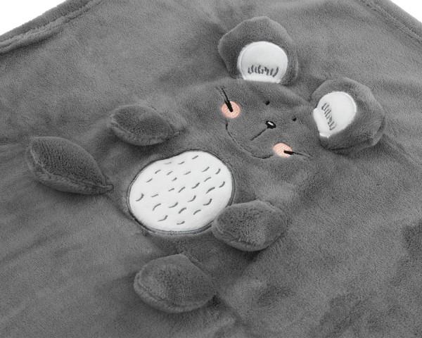 KikkaBoo Ćebence za bebe sa 3D vezom 75x100 MOUSE