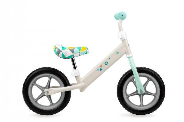 QKIDS bicikla za decu bez pedala Balance Bike FLEET Sivi Trouglovi